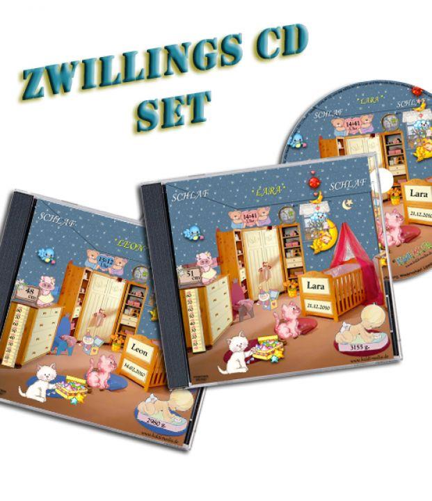 personalisiertes schlaflied cd set f r zwillinge kiddi media. Black Bedroom Furniture Sets. Home Design Ideas